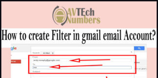 How to create Filter in gmail email Account?