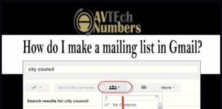 How do I make a mailing list in Gmail