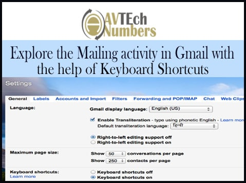 Explore the Mailing activity in Gmail with the help of Keyboard Shortcuts
