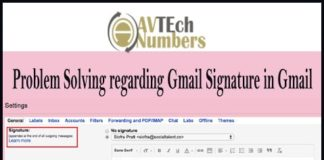 Problem Solving regarding Gmail Signature in Gmail