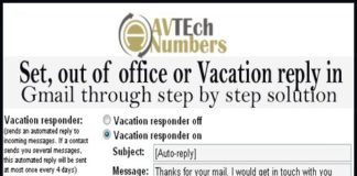 Set, out of office or Vacation reply in Gmail through step by step solution