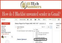 How do I Blacklist unwanted sender in Gmail?