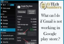 What can I do if Gmail is not working in Google play store?