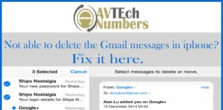 Not able to delete the Gmail messages in iphone? Fix it here.