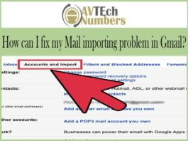 How can I fix my Mail importing problem in Gmail?
