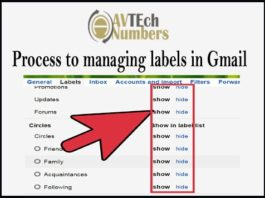 Process to managing labels in Gmail
