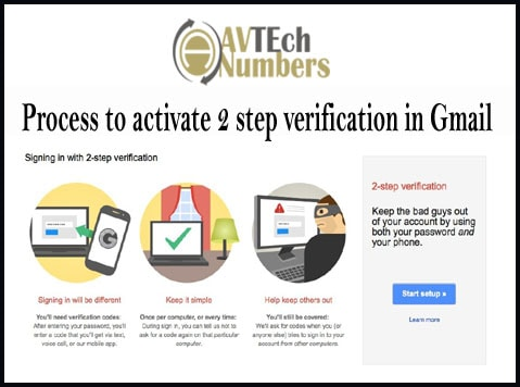 Process to activate 2 step verification in Gmail