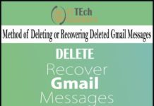 Method of Deleting or Recovering Deleted Gmail Messages