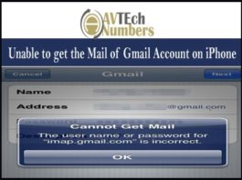Unable to get the Mail of Gmail Account on iPhone
