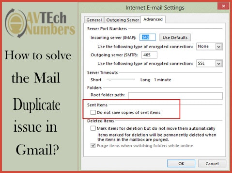 How to solve the Mail Duplicate issue in Gmail?