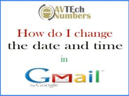 How do I change the date and time in Gmail account?